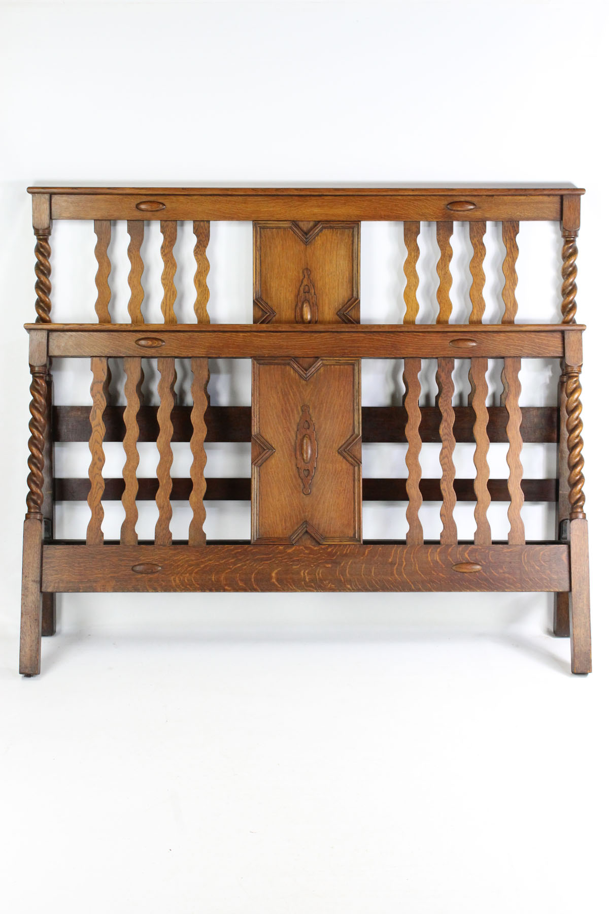 Picture of: Antique Edwardian Arts Crafts Oak King Size Bed Karma Beds
