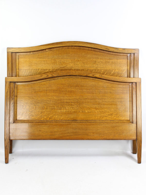 Edwardian Panelled Oak Double Bed